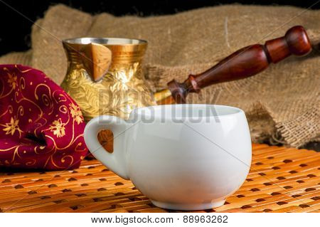 Beautiful Still Life With Cup Of Coffee