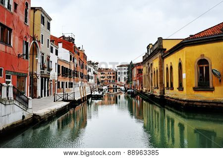 Beautiful View Of Venetian Canal, Venice, Italy