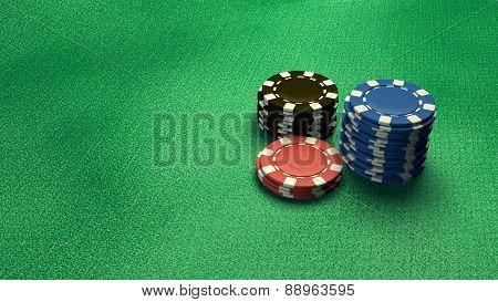 Casino Chips Isolate