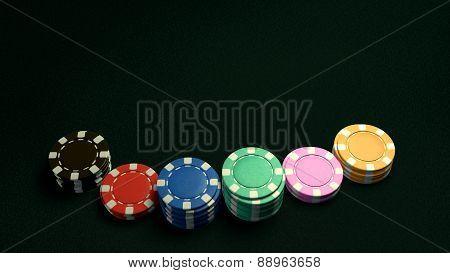 Casino Chips Of Bet Dark Background