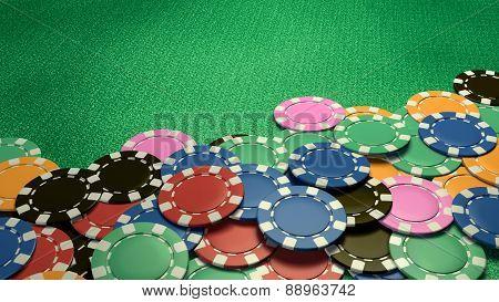 Casino Chips Show Hand