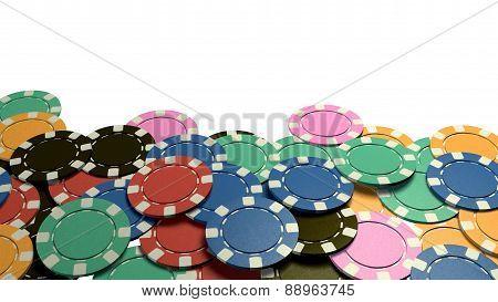 Casino Chips Show Hand White Background