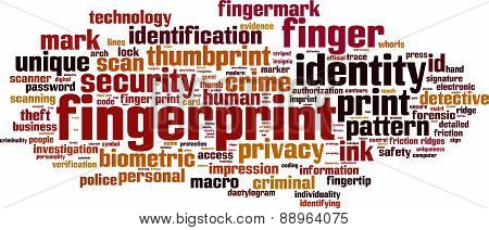 Fingerprint Word Cloud