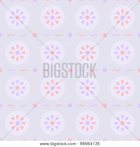 Gentle Floral Seamless Pattern In Pastel Colors
