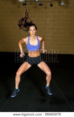 athletic and toned brunette