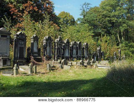 Jewish tombstones.