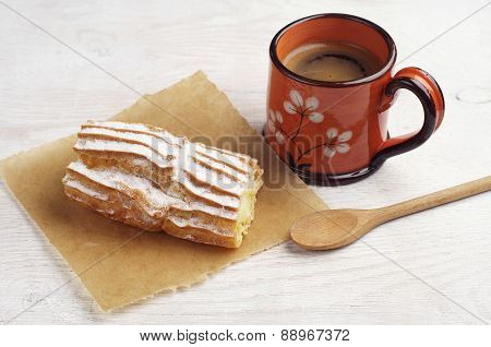 Coffee And Delicious Cake