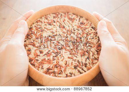 Hand Hold Multi Whole Jasmine Rice Bowl
