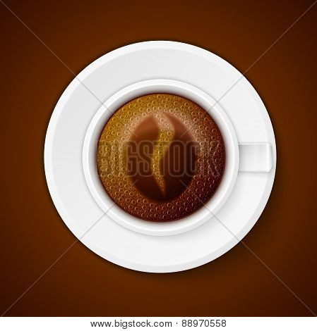 Cup of coffee with Coffee symbol