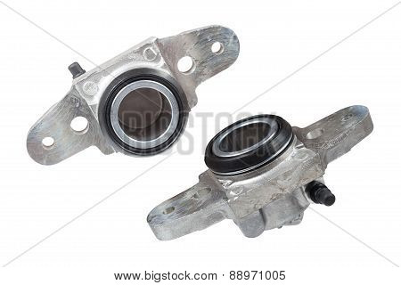 Cylinders Brake Front On A White Background