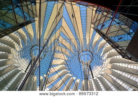 The Sony Center on Potsdamer Platz in Berlin, Germany.