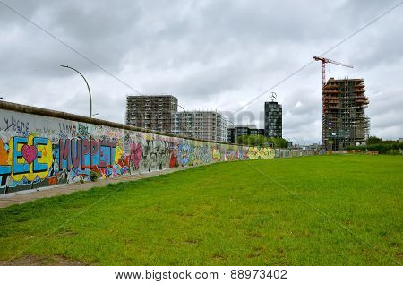 The Berlin Wall (Berliner Mauer) in Germany.