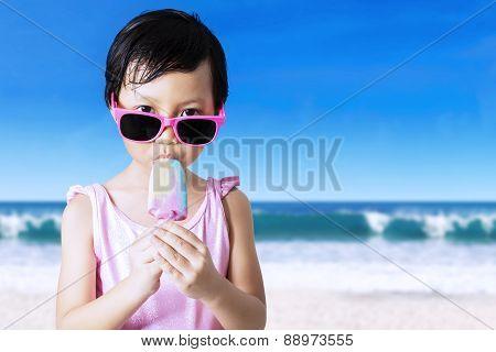Child Eats Ice Cream