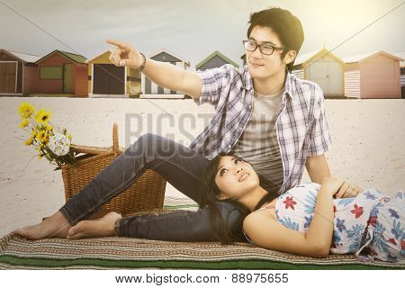 Happy Couple At Brighton Beach
