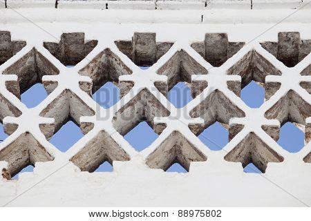 Latticed Brick Wall