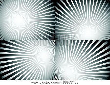 Radiating, Converging Lines, Rays Background. Known As Starburst, Sunburst Background. Vector Illust
