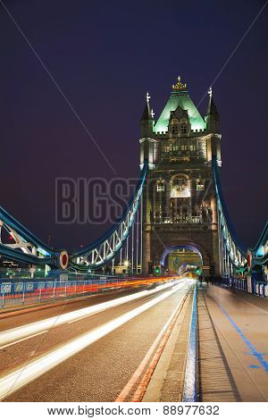 Tower Bridge In London, Great Britain