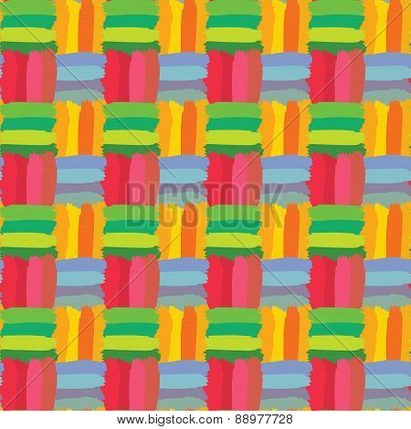 Colorful Check Seamless Pattern