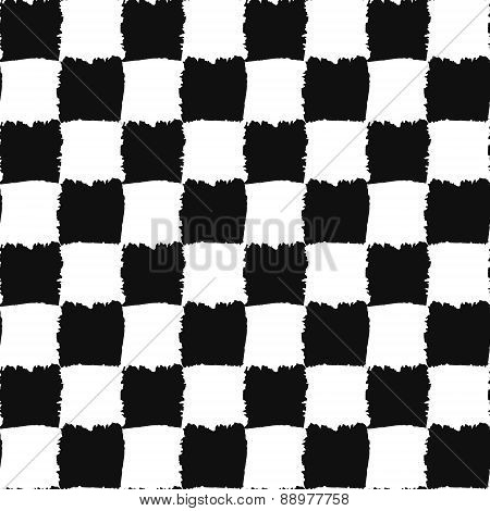 Check Black and White Seamless Pattern