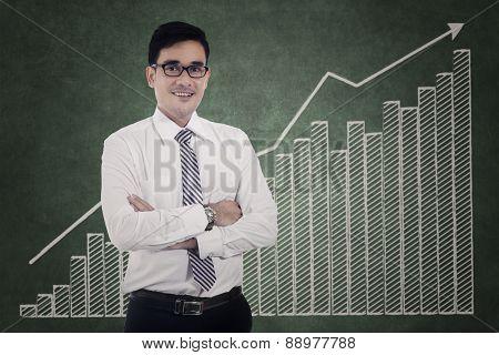 Modern Businessman And Financial Graph