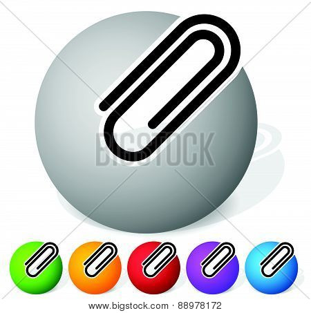 Paper Clip, Clip Icon, Element. Vector Illustration