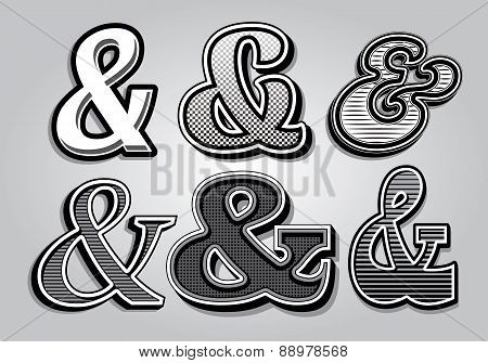 Set Of Stylish Ampersands