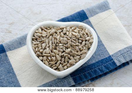 Sunflower Seeds Heart Bowl