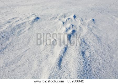 Snow Texture. Picture Can Be Used As A Background