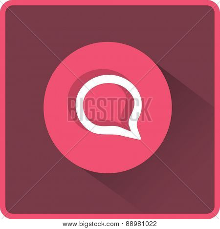 Flat Vector Speech Icon