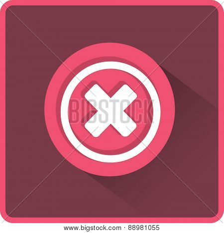 Flat Vector Delete Icon