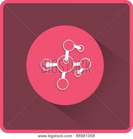 Molecule. Flat Vector Icon