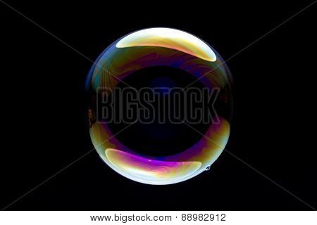 Bubble Against Black