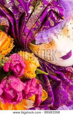venetian purple mask