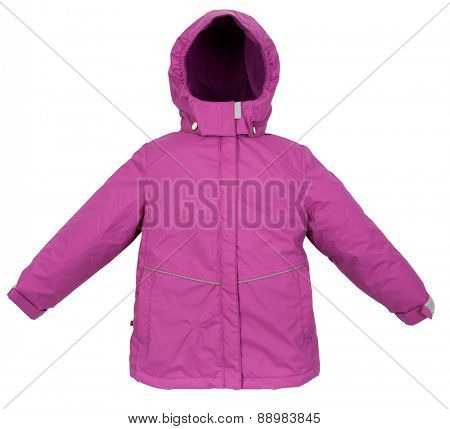 Childrens Winter warm jacket isolated on white background
