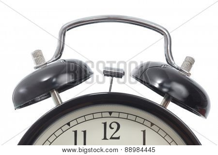 Alarm clock detail isolated on white