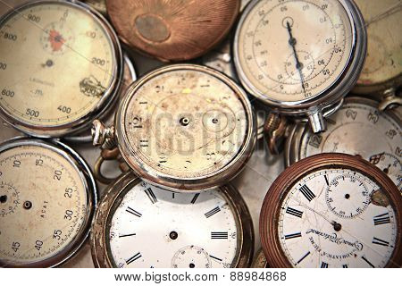 Old Pocket Watches At Market For Sale