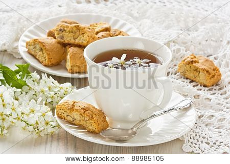 Cup Bird-cherry Tea