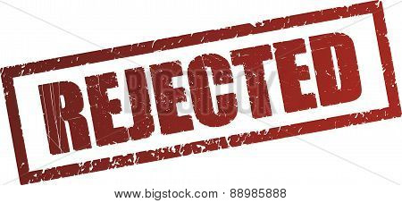 Rejected - rubber stamp. Vector illustration for your design.