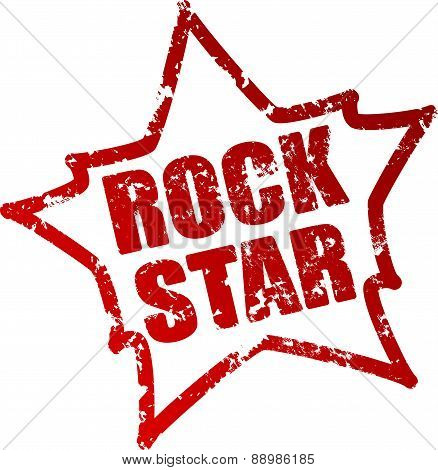 Rock stars - rubber stamp grunge style label. Vector illustration for your design.