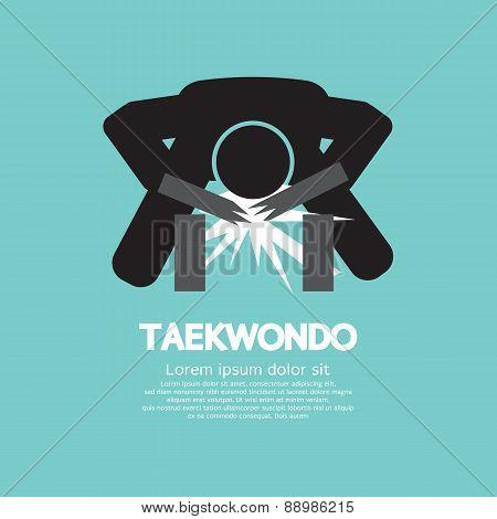 Taekwondo Asian Sport Symbol.