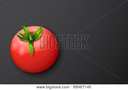 tomato on dark back