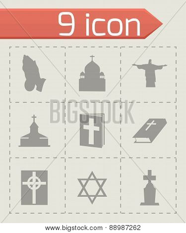 Vector religion icons set