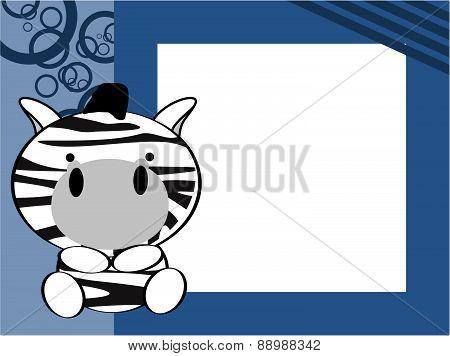cute baby zebra picture frame