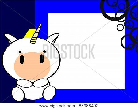 cute baby unicorn picture frame