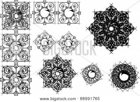 Set of Vector Design Textures and Patterns