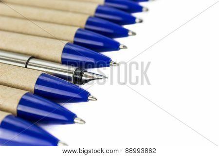 Fountain Pen And Ordinary Pens