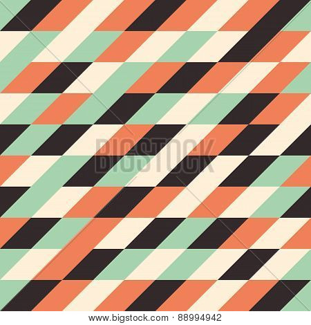 Seamless pattern with multicolored rhombuses.
