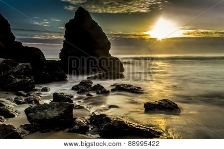 Rocky Beach Sunset