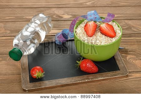 Oatmeal, Strawberries And Water
