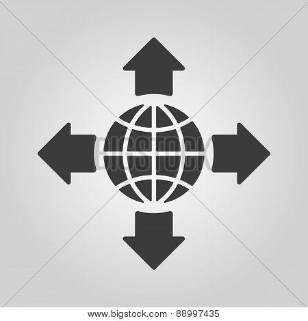 The Navigation Icon. Location Symbol. Flat